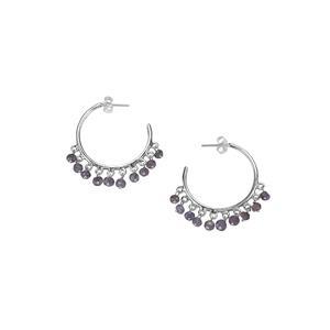Tanzanite Bead Earrings in Sterling Silver 12cts
