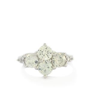 Ratanakiri Zircon Sterling Silver Ring 3.55ct
