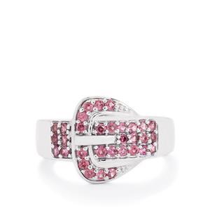 0.73ct Rhodolite Garnet Sterling Silver Ring