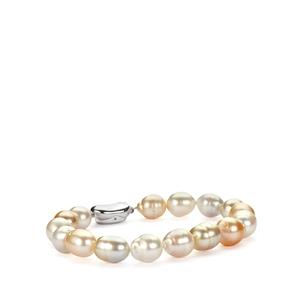 South Sea Cultured Pearl Bracelet in Sterling Silver