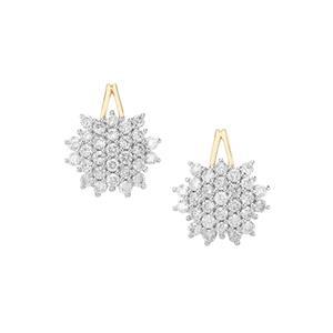 1ct Argyle Diamond 10K Gold Tomas Rae Earrings