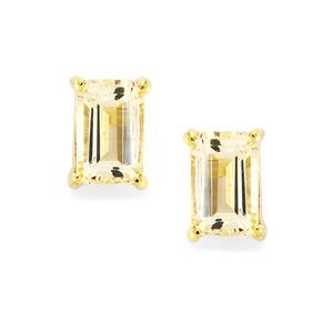 Champagne Danburite Earrings in 10k Gold 1.12cts