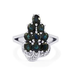 3.14ct Australian Blue Sapphire Sterling Silver Ring