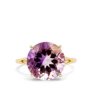 5.65ct Boudi Hourglass Amethyst 9K Gold Ring