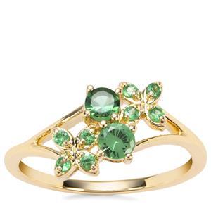 Tsavorite Garnet Ring in 9K Gold 0.50ct