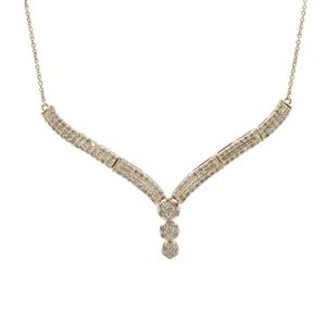 Argyle Diamond Necklace in 9K Gold 1.50cts