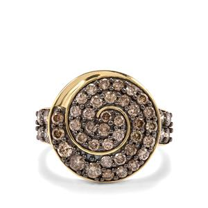 1.50ct Champagne Diamond 9K Gold Tomas Rae Ring