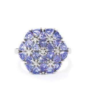 Tanzanite Ring in Sterling Silver 2.57cts