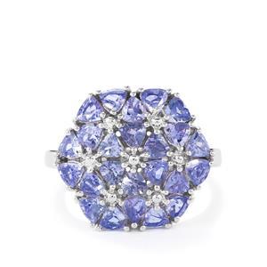 2.57ct Tanzanite Sterling Silver Ring