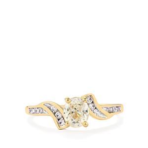 1.31ct Singida Tanzanian Zircon 10K Gold Ring