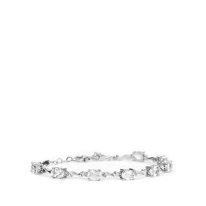 7.6ct White Topaz Sterling Silver Bracelet