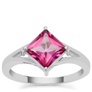 Mystic Pink Topaz Ring in Sterling Silver 2cts