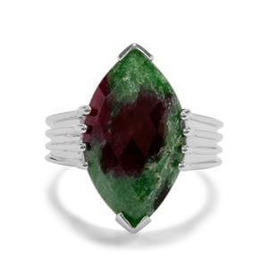 9.97ct Ruby-Zoisite Sterling Silver Ring
