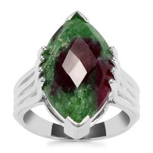 Ruby-Zoisite Ring in Sterling Silver 9.97cts