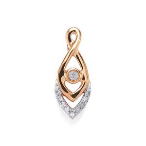 1/20ct Diamond 10K Rose Gold Pendant
