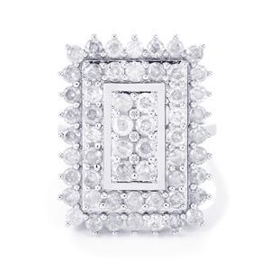 3ct Diamond 9K White Gold Ring