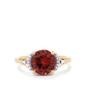 Zanzibar Zircon & Diamond 18K Gold Tomas Rae Ring MTGW 4.06cts