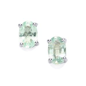 Paraiba Tourmaline Earrings in 10K White Gold 0.79cts