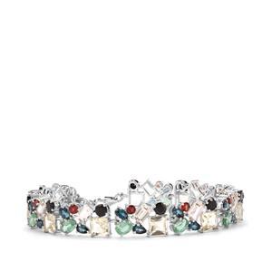 28.18ct Kaleidoscope Gemstones Sterling Silver Bracelet