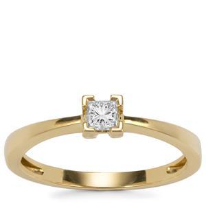 Diamond Ring in 18K Gold 0.20ct