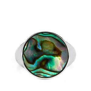 Paua Ring in Sterling Silver