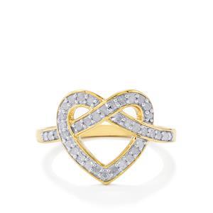 Diamond Ring  in 10k Gold 0.34ct