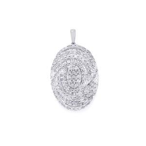 2.75ct Diamond Sterling Silver Pendant