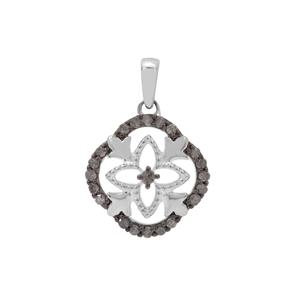 Salt & Pepper Diamond Pendant in Sterling Silver 0.26ct