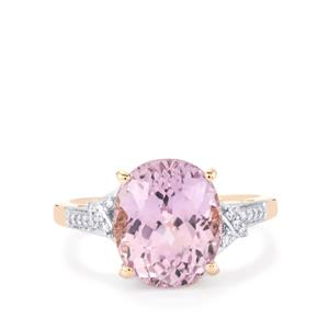 Mawi Kunzite Ring with Diamond in 14k Rose Gold 5.79cts
