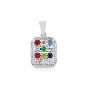 Kaleidoscope Gemstones Pendant in Sterling Silver 1.43cts (F)