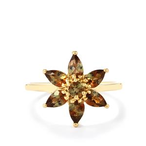 Sopa Andalusite Ring in 10k Gold 1.33cts