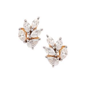 Diamond Earrings in 18K Gold 0.38ct