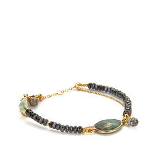 Kaleidoscope Gemstones 925 Sarah Bennett Bracelet 25.12cts