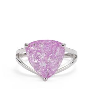 Pink Crackled Quartz Ring in Sterling Silver 5.62cts