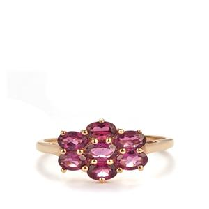 1.755ct Rajastan Garnet 9K Gold Ring