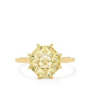 2.74ct Lehrer QuasarCut Serenite 10K Gold Ring