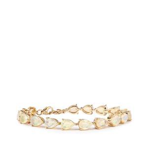 Ethiopian Opal Bracelet  in 10k Gold 9.04cts