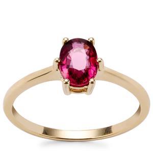 Malawi Garnet Ring in 9K Gold 1.06cts