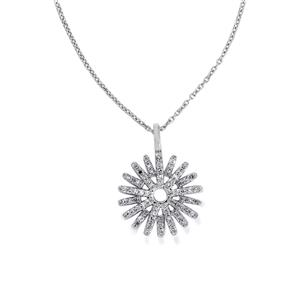 1/4ct Diamond Sterling Silver Pendant Necklace