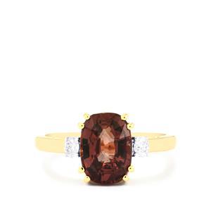 Bekily Colour Change Garnet & Diamond 18K Gold Tomas Rae Ring MTGW 3.70cts