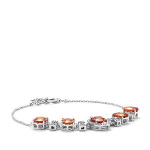 Mandarin Garnet & Diamond 18K White Gold Lorique Bracelet MTGW 8.48cts