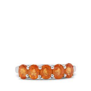 2.66ct Mandarin Garnet Sterling Silver Ring