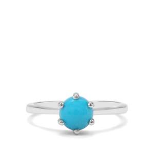 1.28ct Sleeping Beauty Turquoise Sterling Silver Ring