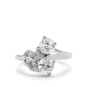2.06ct Singida Tanzanian & White Zircon Sterling Silver Ring