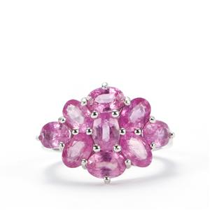 6.28ct Ilakaka Hot Pink Sapphire Sterling Silver Ring (F)