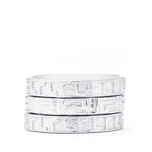 Sterling Silver Set of 3 Stacker Rings