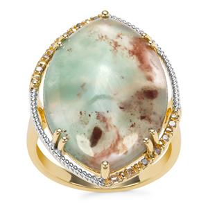 Aquaprase™ Ring with Champagne Diamond in 9K Gold 13.74cts