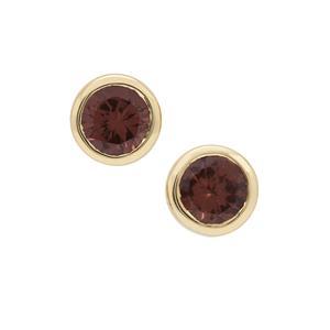 Bekily Colour Change Garnet Earrings in 9K Gold 1.20cts