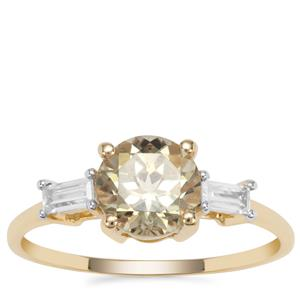 Csarite® Ring with White Zircon in 9K Gold 1.79cts