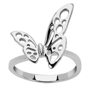 Sterling Silver Butterfly Ring 2.36g